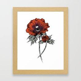 White as Milk, Red as Blood: Flower Framed Art Print