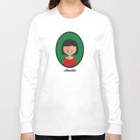 amelie Long Sleeve T-shirts featuring Amelie by Juliana Motzko