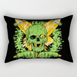 Get Bent Slime Skull Rectangular Pillow