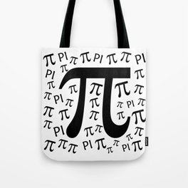 The Pi symbol mathematical constant irrational number, greek letter, background Tote Bag