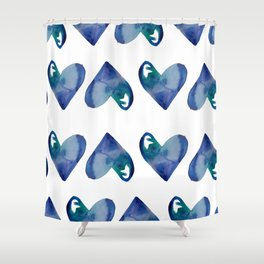 Father's Day Hearts Shower Curtain