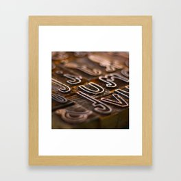 Letterpress  Framed Art Print
