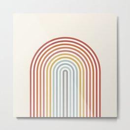 Minimalist colorful rainbow lines  Metal Print