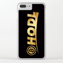 Bitcoin Hodl (Hold) Clear iPhone Case