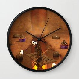 Chocolate Waterfall Bunny Boat Wall Clock