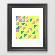 Falling Pieces Framed Art Print