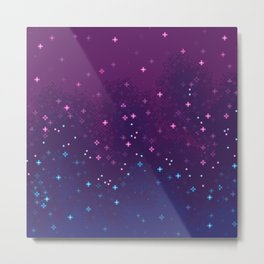 Bi Pride Flag Galaxy Metal Print
