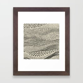 Hand Drawn Patterned Abstract II Framed Art Print