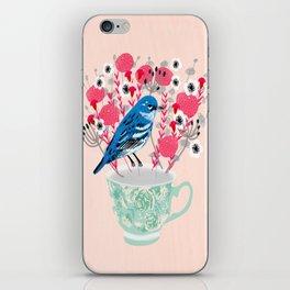 Bird on a Teacup by Andrea Lauren  iPhone Skin