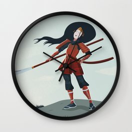 Tomoe Gozen, The Female Samurai Wall Clock