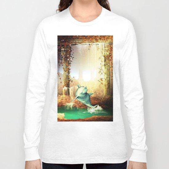 Funny dolphin Long Sleeve T-shirt