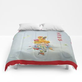 Year of the Rooster 金 雞 祝 福 (with border) Comforters