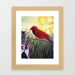 Just Another Day on the Test Site Framed Art Print