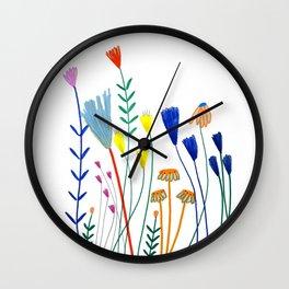 Flowers. Wall Clock