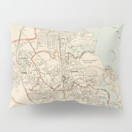 Vintage Map of Quincy MA (1907) Pillow Sham
