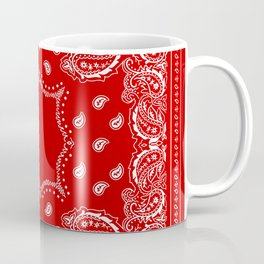 Bandana in Red & White Coffee Mug