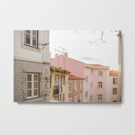 Pastel Neighbourhood Metal Print