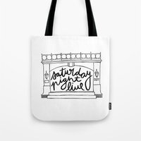snl Tote Bags featuring SNL Stage by Liana Spiro