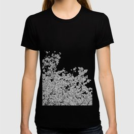 Cherry Blossoms (Black and White) T-shirt