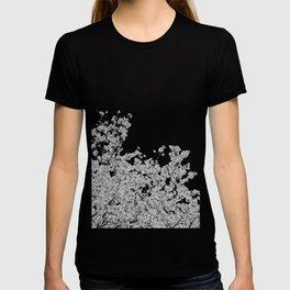 Cherry Blossoms (Black and White) T-shirt