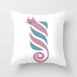 The sweetest kitty Throw Pillow