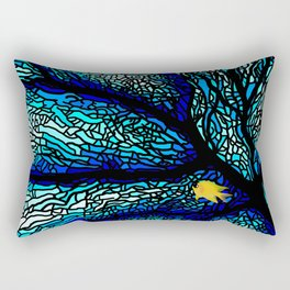 Sea fans diving coral stained glass Rectangular Pillow