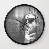 rebel Wall Clocks featuring Rebel by Sarah R Bock