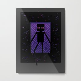 Here comes the Enderman! Metal Print