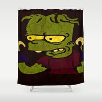 simpson Shower Curtains featuring Bart Simpson by Jide