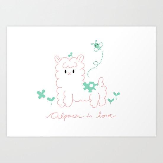 Alpaca is love Art Print