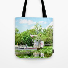 Everglades Safari Boat Tote Bag