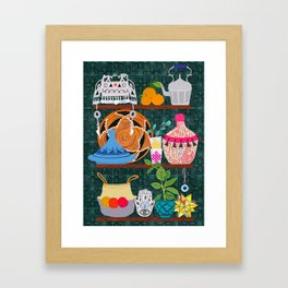 Moroccan shelf Framed Art Print