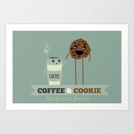 COFFEE & COOKIE Art Print