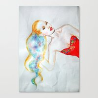 iggy azalea Canvas Prints featuring Iggy Azalea  by eleidiel