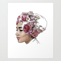 Yuna - A flower portrait Art Print