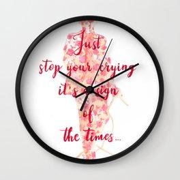 Floral lyrics Wall Clock