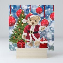 Santa Claus Teddy Bear Mini Art Print