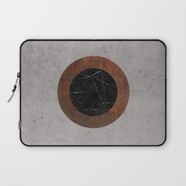 Concrete, Rusted Iron, and Black Marble Abstract Laptop Sleeve