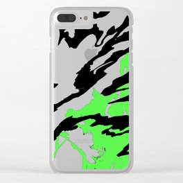 Green and Black Clear iPhone Case