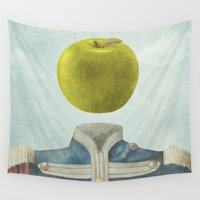 magritte Wall Tapestries featuring Sgt. Apple  by Terry Fan