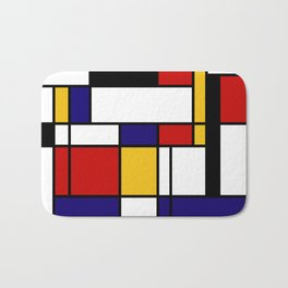 Mondrian Shape Art Bath Mat