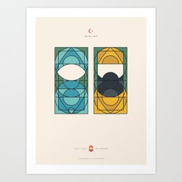 THE VEIL AND THE BEARD - Muslims - Woman & Man Art Print
