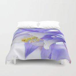 Columbine flower macro 285 Duvet Cover