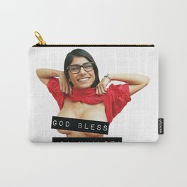 God Bless Mia Khalifa Carry-All Pouch
