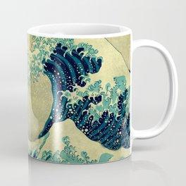 The Great Blue Embrace at Yama Coffee Mug