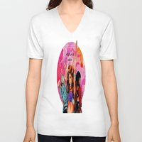 artrave V-neck T-shirts featuring ARTRAVE by JessicART