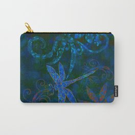 Dragon Fly Abstract Print Carry-All Pouch