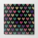 Colorful Knitted Hearts VI by uniqued