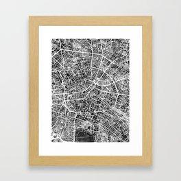 Berlin Germany City Map Framed Art Print
