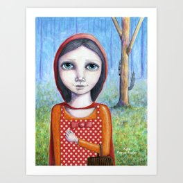 Little Red by Kylie Fowler Art Print